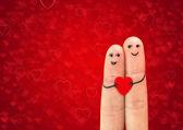 幸福的情侣在爱情中 — 图库照片