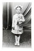 Vintage photo of little girl — Stock Photo