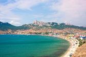 Summer landscape with mountains and sea. Koktebel, Crimea, Ukrai — Stock Photo