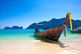 Traditional wooden boat at Phi Phi island, Thailand, Asia. — Stock Photo