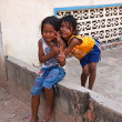 Two young girls posing outside in Siem Reap, Cambodia — Stock Photo