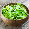 Fresh arugula salad — 图库照片