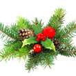 Christmas decoration on a white background — Stock Photo