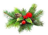 Christmas decoration on a white background — Stock Photo