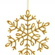 Gold shiny snowflake — Stock Photo #34386317
