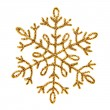 Gold shiny snowflake — Stock Photo