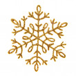 图库照片: Gold shiny snowflake