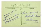 Old vintage postcard — Stock Photo