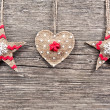 Christmas decoration on a wooden background — Stock Photo #35246351