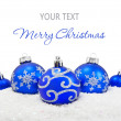 Foto Stock: Christmas balls background