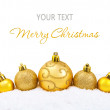 Stock Photo: Decorative christmas background