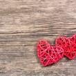 Stock Photo: Two red hearts