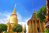 Wat Phra Kaew, Temple of the Emerald Buddha. The Grand Palace Ba — Stok fotoğraf