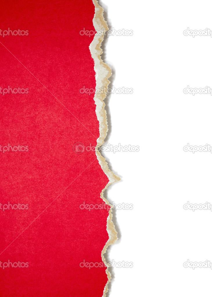 撕的纸边框 — 图库照片08preto
