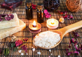 Spa with natural bath salt — Stockfoto