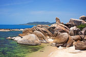Grandfather rock on Lamai Beach. Koh Samui, Thailand — Foto Stock