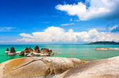 Beautiful stones on Lamai beach, Koh Samui, Thailand — Stock Photo