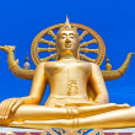 Wat phra yai, the big buddha temple at Koh Samui, Thailand — Stock Photo #50447073