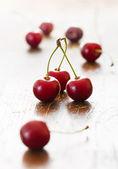 Fresh red cherries — Stock Photo