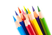 Colourful pencils isolated on a white background — Stock Photo