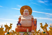 Big Laughing Buddha Statue in Wat Plai Laem, Koh Samui, Thailand — Stock Photo