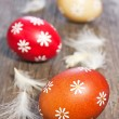 Three painted easter eggs — Stock Photo #9473955