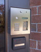 Electronic door directory and security pad — Photo