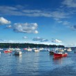 New England fishing harbor — Stock Photo #12428504