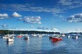 New England fishing harbor — Stock Photo
