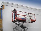 Contractor plasterer — Stock Photo