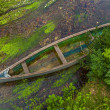 Canoe shot from above — Stock Photo