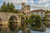 The castle of Bourdeilles — Stock Photo