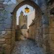 Medieval castle archway — Stock Photo