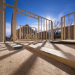 Stock Photo: New house framing construction
