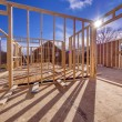 New house framing construction — Stock Photo