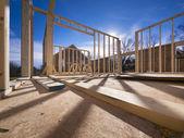 Nueva construcción de estructura de casa — Foto de Stock