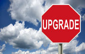 Upgrade road sign, isolated — Stock Photo