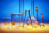 Chemistry glassware — Stock Photo