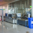Airport security check point — Stockfoto