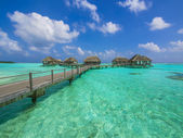 Water bungalows in paradise — Stock Photo