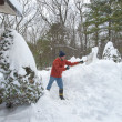Shoveling snow — Stock Photo #22281921