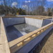 Stok fotoğraf: New multi family house foundation