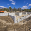 Stock fotografie: New multi family house foundation