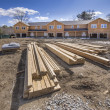 Multi family housing construction framing — Stock Photo