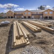 Stock Photo: Multi family housing construction framing