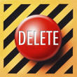 Delete button — Stock Photo