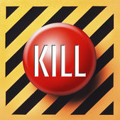 Kill button in red — Stock Photo