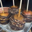 Caramel candied apples — Stock Photo