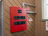 Fire alarm control panel — Stock Photo