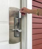 Key card access to room — Stock Photo